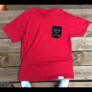 Diamond Supply Co. Red Pocket Tee